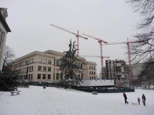 ©delirurbain 2013 - mise en place du chantier du futur musée de l'Europe au centre dentaire Eastman
