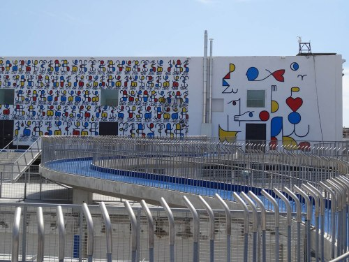 "toit , passerelle, intervention murale ""Remed - 2013 ""  3 08 2014 © delirurbain"