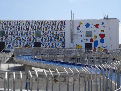 "toit , passerelle, intervention murale ""Remed - 2013 ""  3 08 2014 © delirurbain"