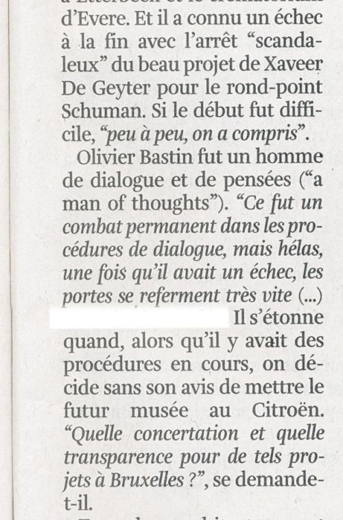 Guy Duplat extrait de La Libre 13 09 2014